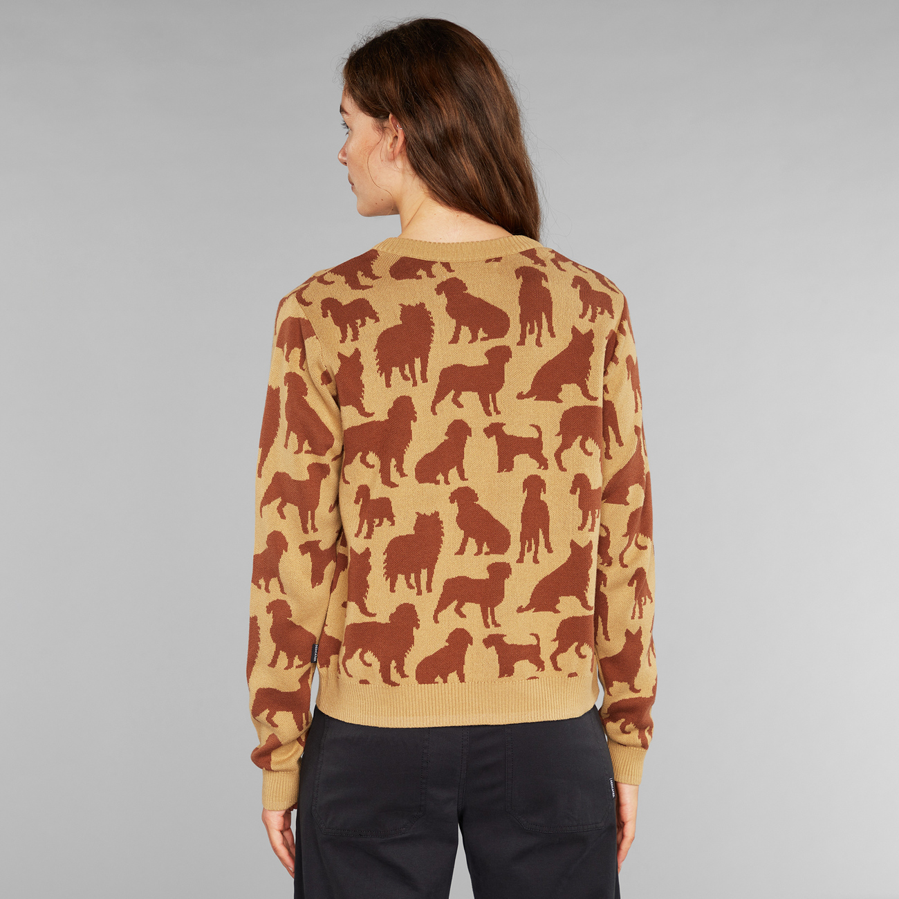 Sweater Arendal Dog Shapes Beige