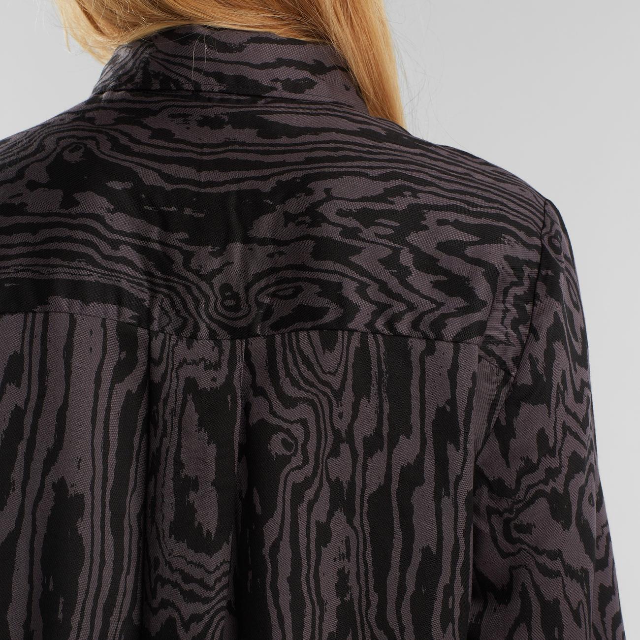 Shirt Dorothea Wood Cut Charcoal