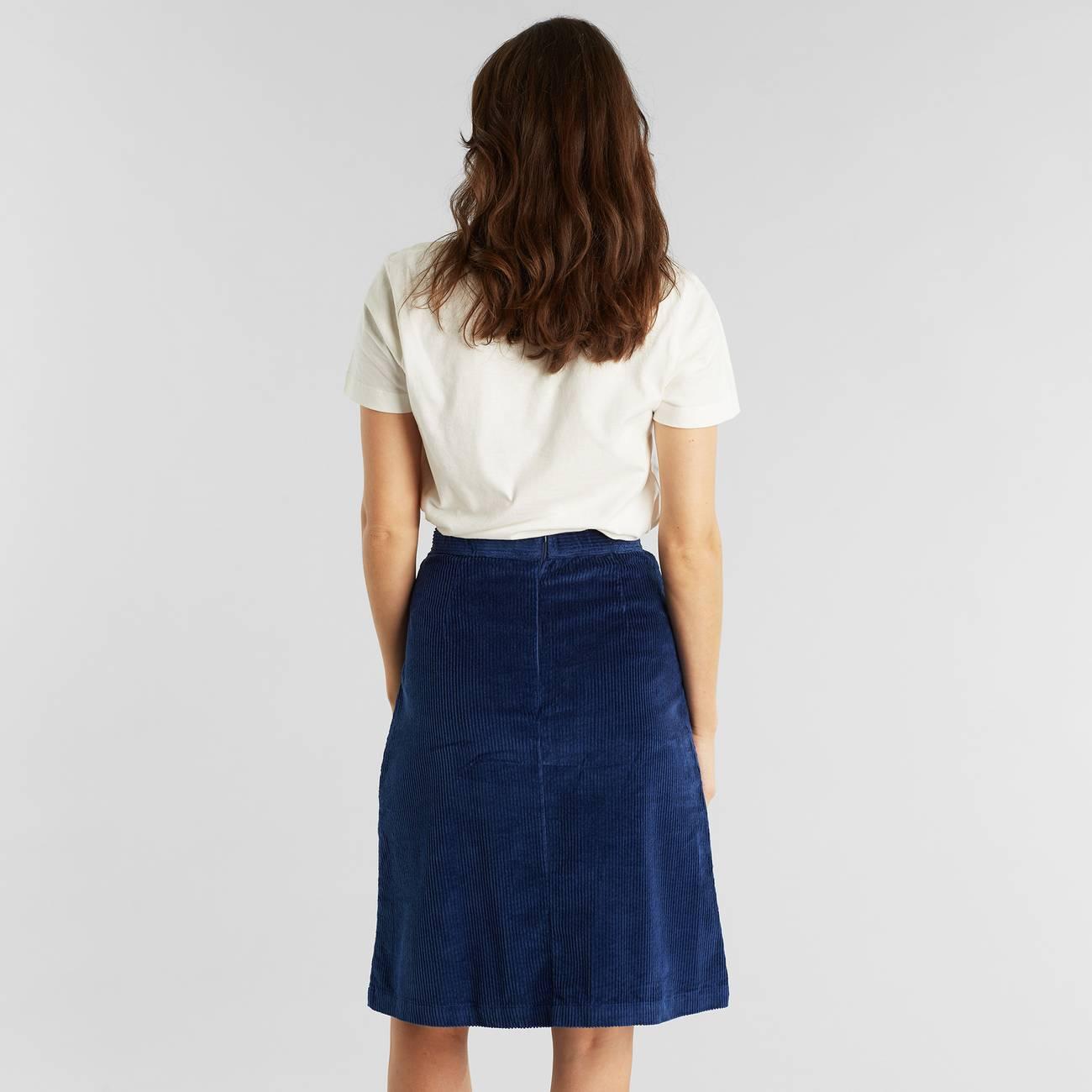 Skirt Haga Corduroy Deep Blue