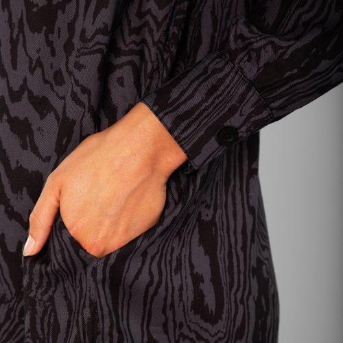 Shirt Ljunga Wood Cut Charcoal