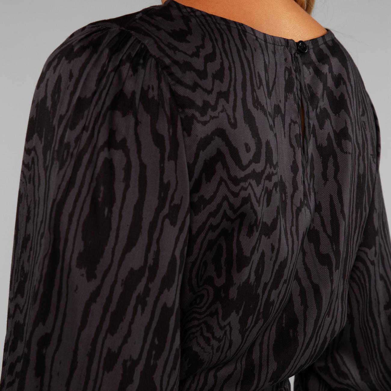 Dress Hjo Wood Cut Charcoal