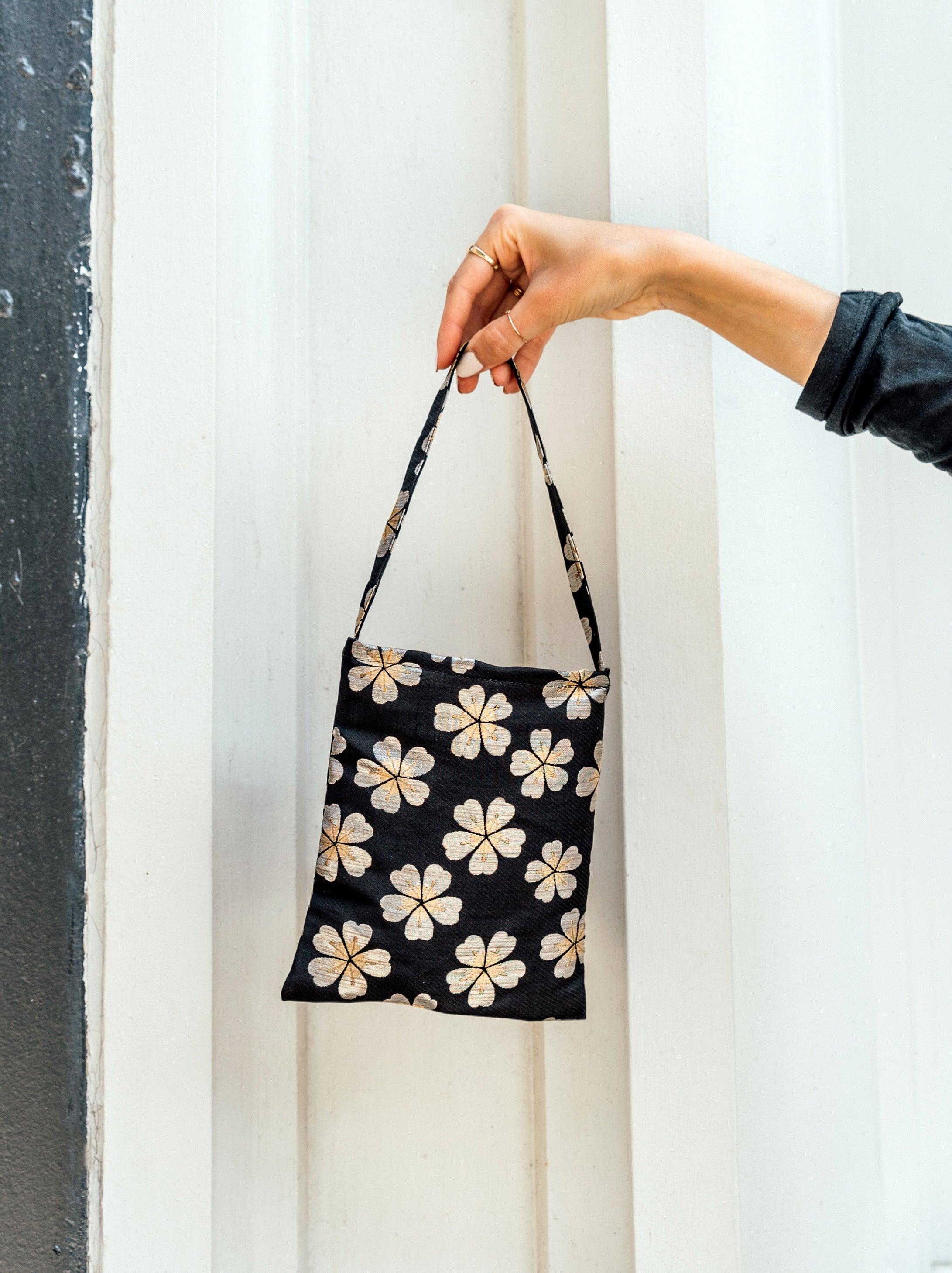 paris bag - japanese floral