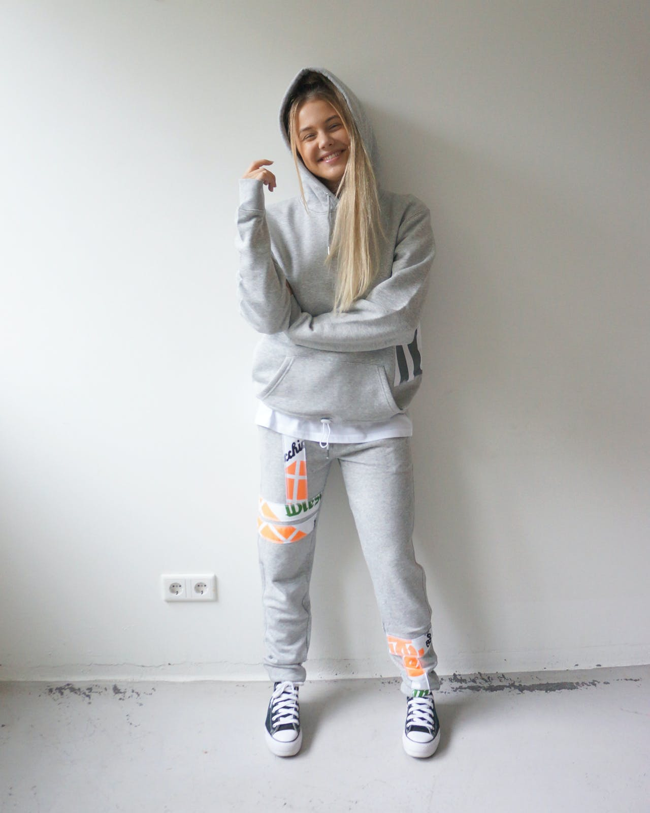 Goat Organic Apparel Remix hoodie grey