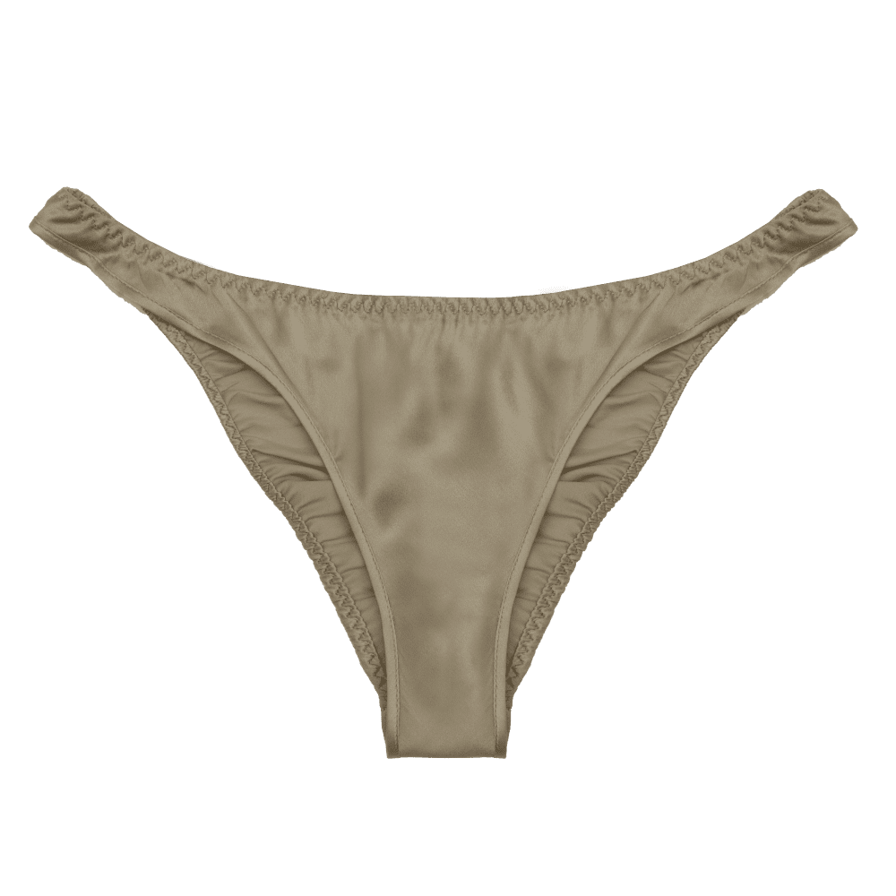Zoe gold sand silk low rise bottom