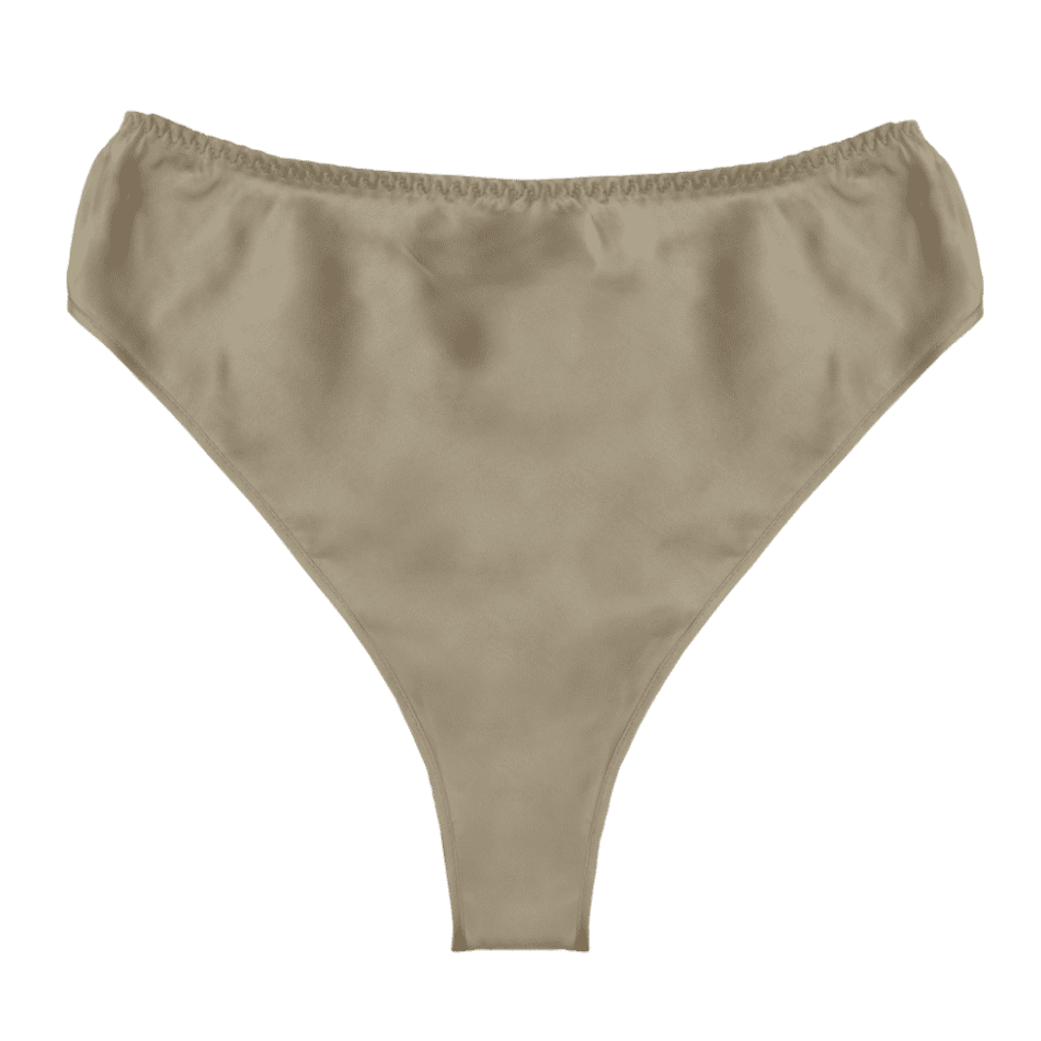 Thea gold sand silk high waist bottom