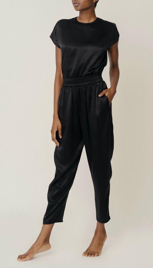 Roy organic silk trousers