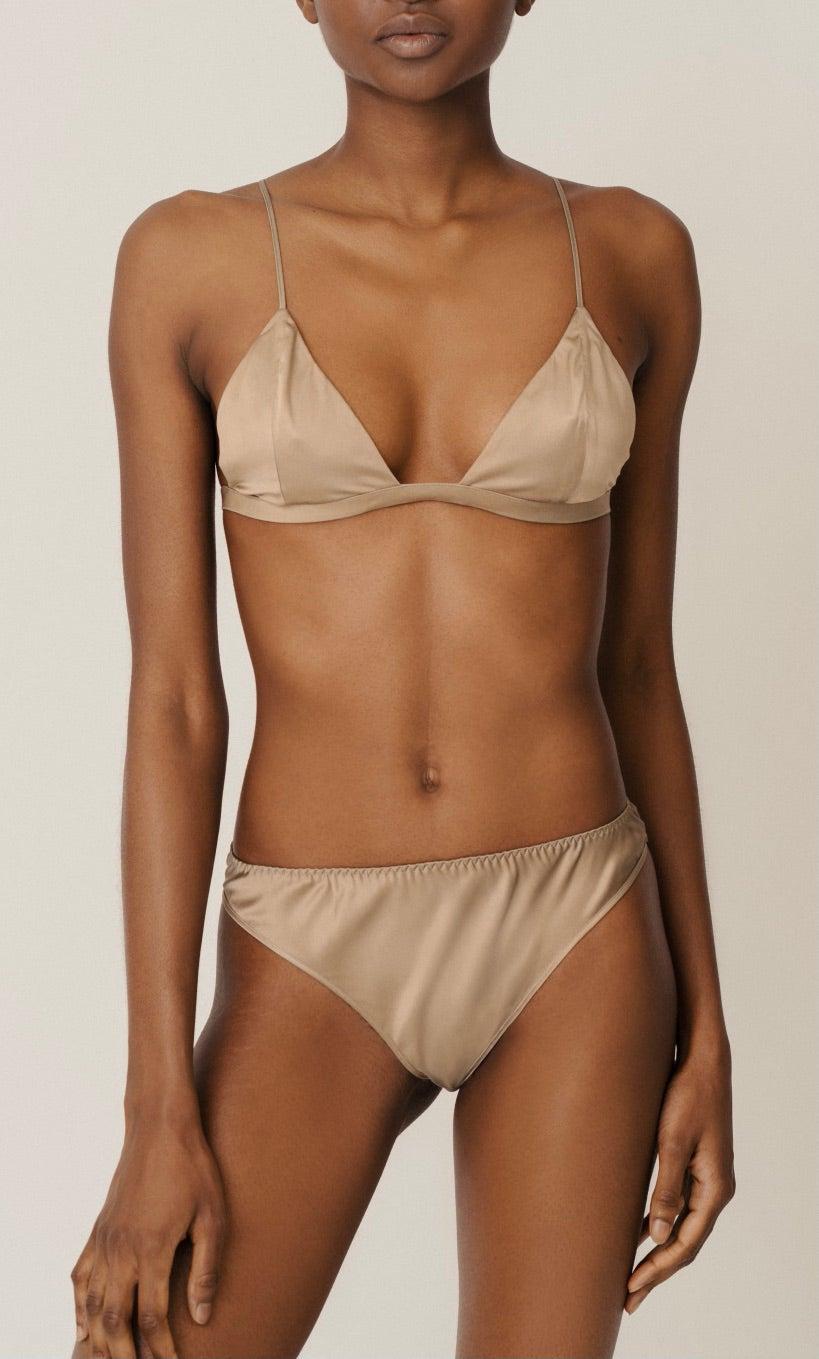 Lea organic silk mid rise panties