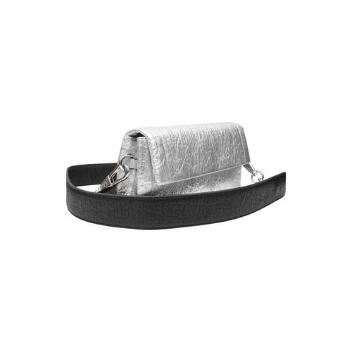 Alkeme Atelier Air Piñatex Vegan Leather Rectangle Crossbody Bag | Silver