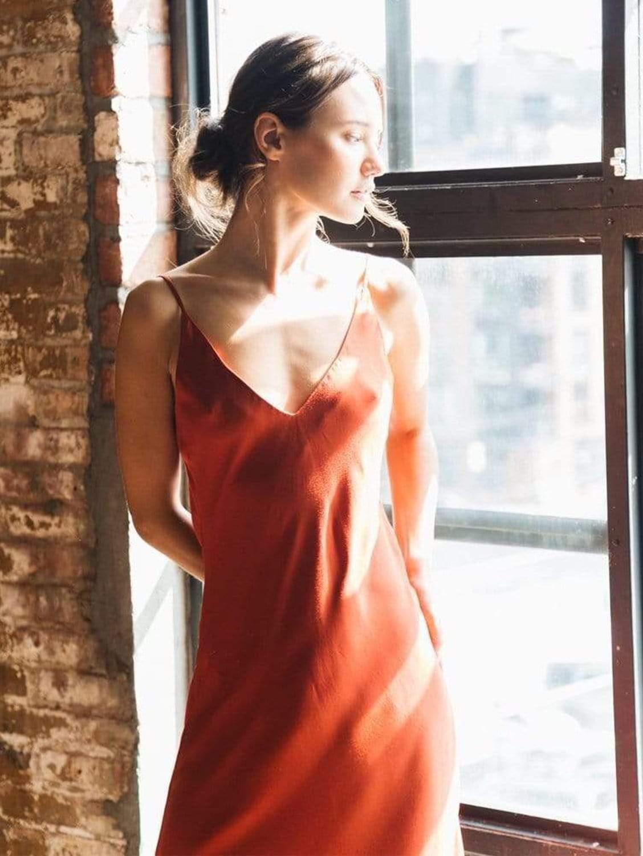Bias Cut Lightweight TENCEL™ Vegan Silk Slip Dress   Multiple Colours