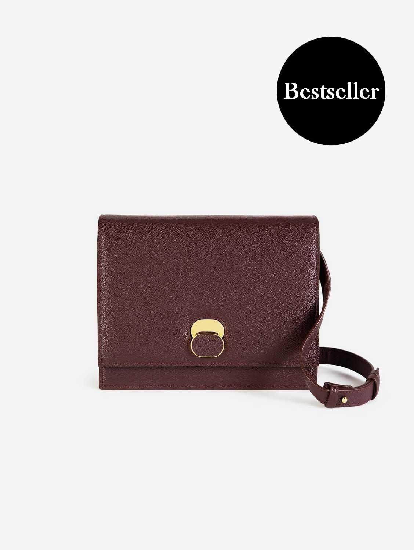 Aphra AppleSkin™ Vegan Leather Shoulder Bag | Burgundy