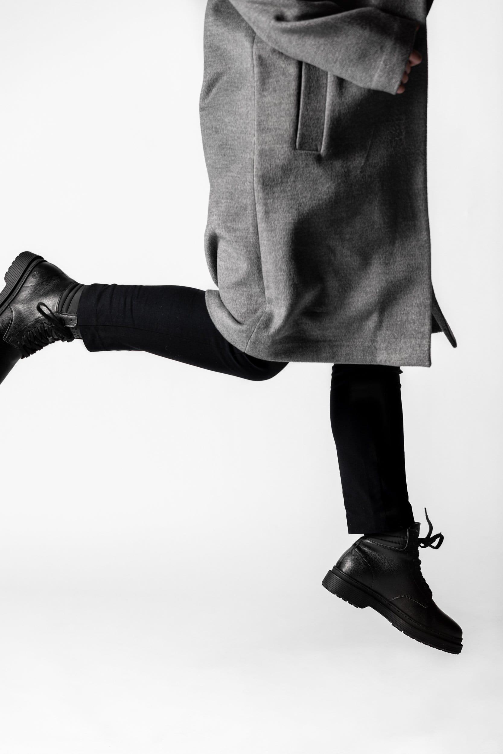 Revenge Sustainable Vegan Leather Ankle Boot | Black
