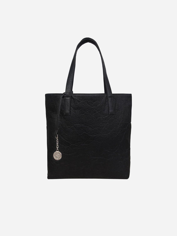 Simma Tote Bag | Black Piñatex®