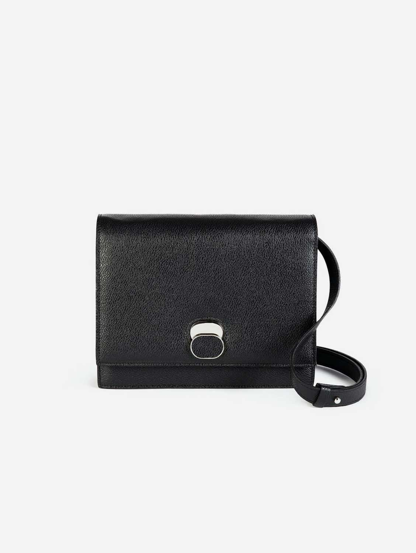 Aphra AppleSkin™ Vegan Leather Shoulder Bag | Black