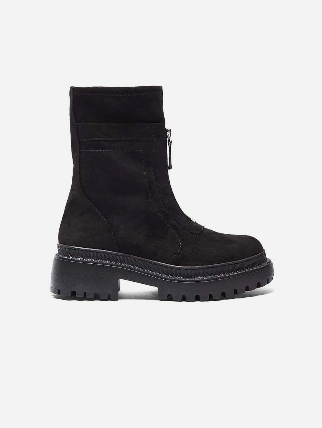 Lidia Recycled Polyester Vegan Suede Winter Boots   Black