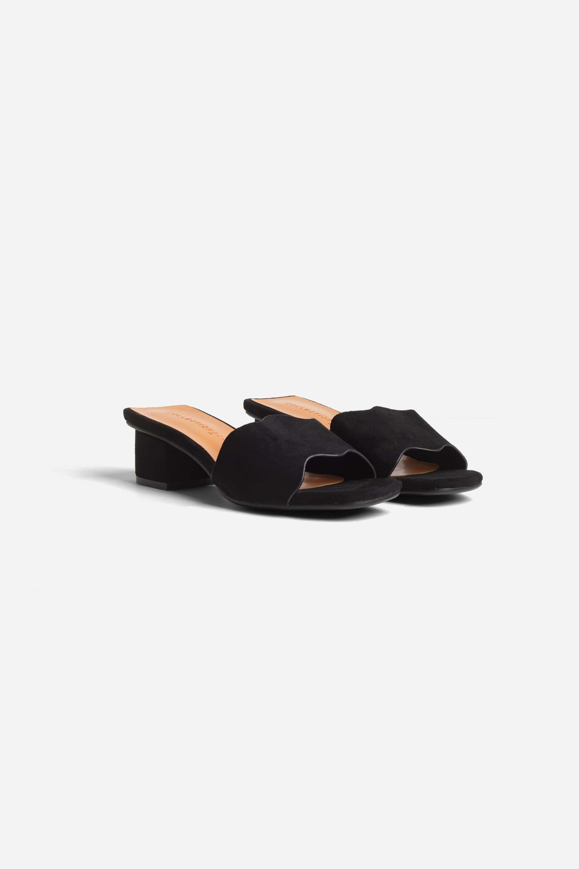 Collection & Co Kitty Up-Cycled Vegan Suede Mule   Black