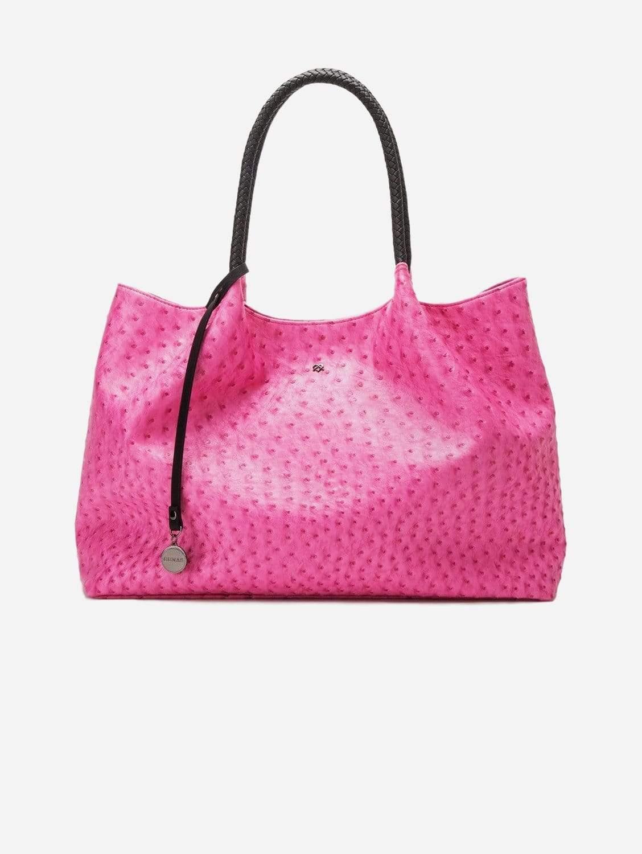 Naomi Vegan Leather Tote Bag   Hot Pink
