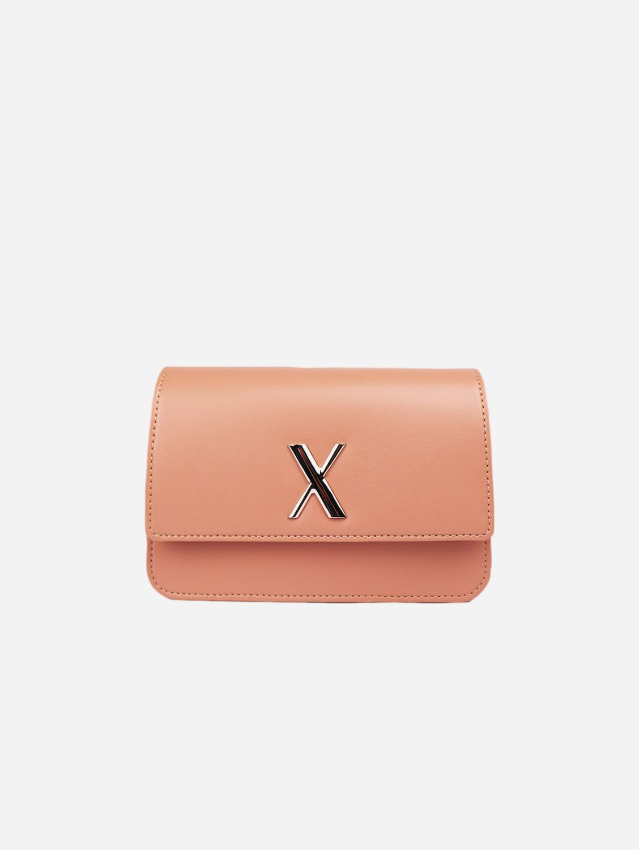 Zaha Apple Leather Vegan Belt Bag | Ballet Pink