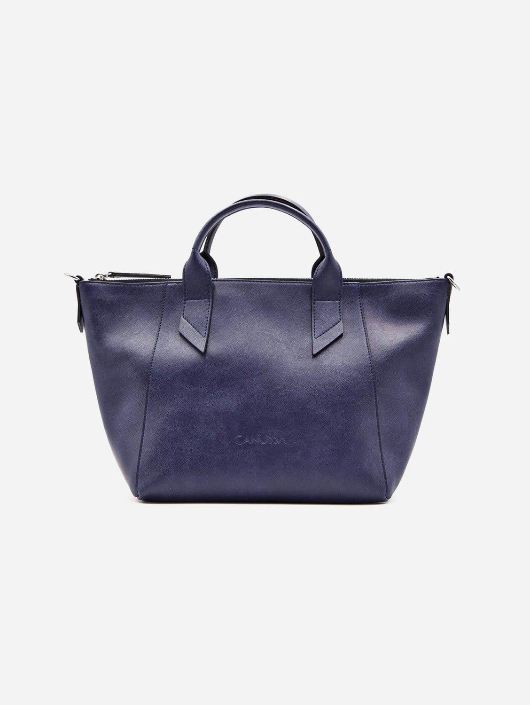 Trotto Vegan Leather Tote Bag | Blue