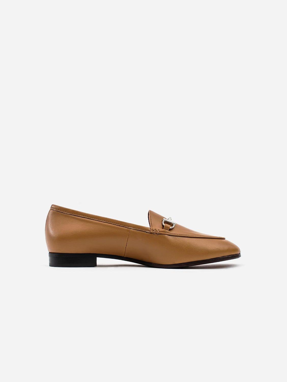 Jessica Vegan Leather Snaffle Loafer | Camel