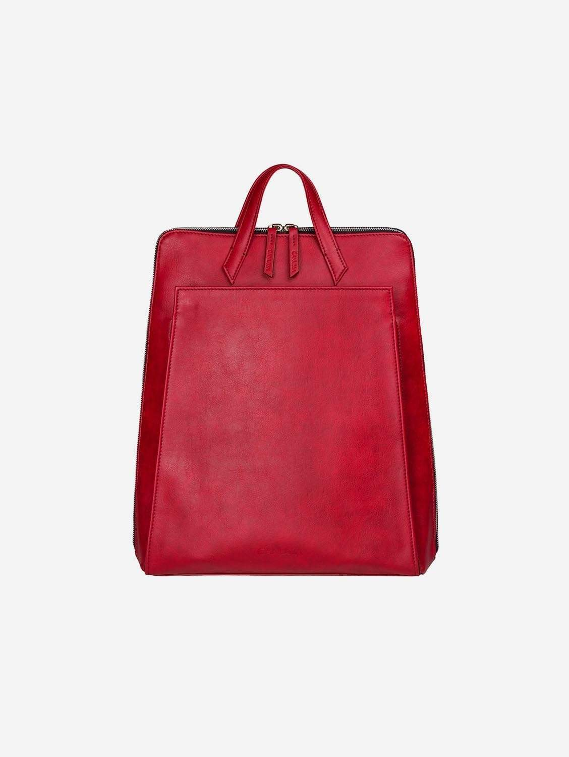 Urban Vegan Leather Backpack | Red
