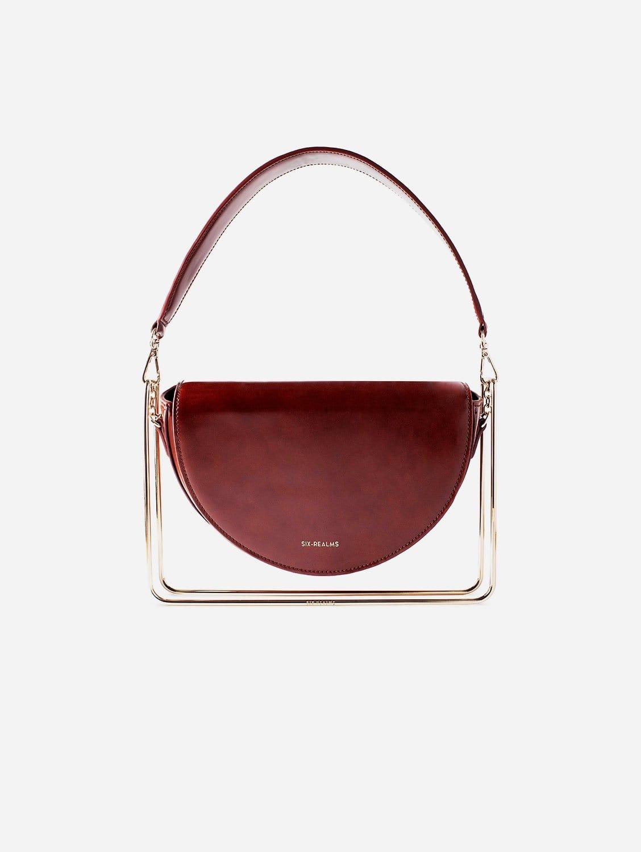 SATORI MOON Vegan Suede & Leather Contemporary Bag   Oak