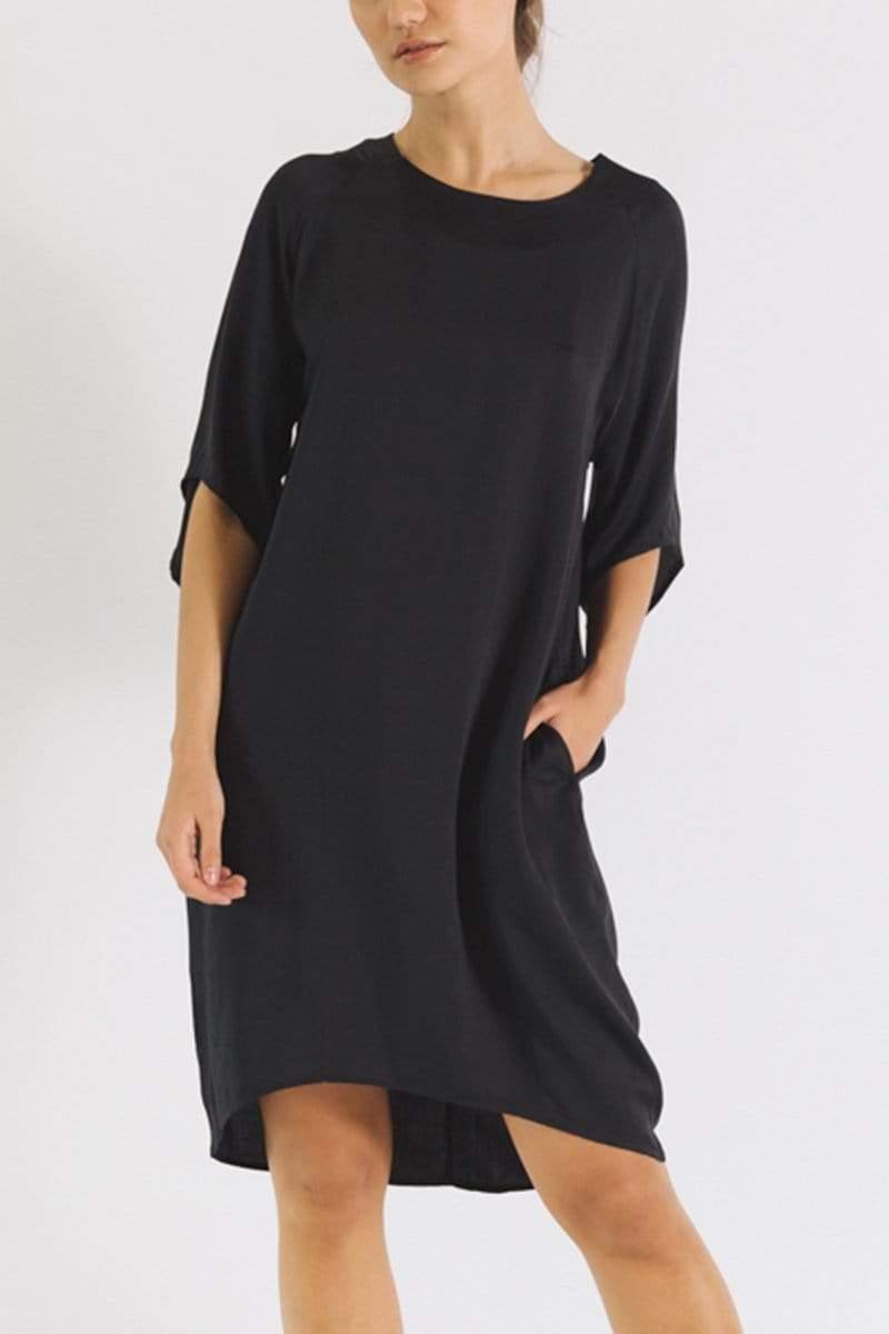 Neu Nomads 3/4 Sleeve TENCEL™ Vegan Silk Cocoon Dress   Multiple Colours