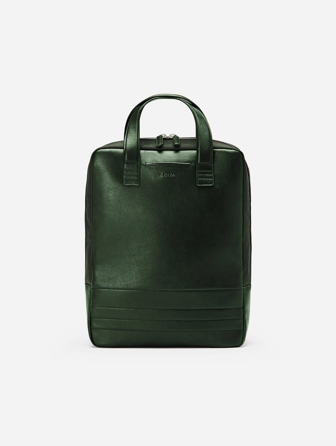Vegan Leather Backpack/Briefcase | Limited Edition Olive