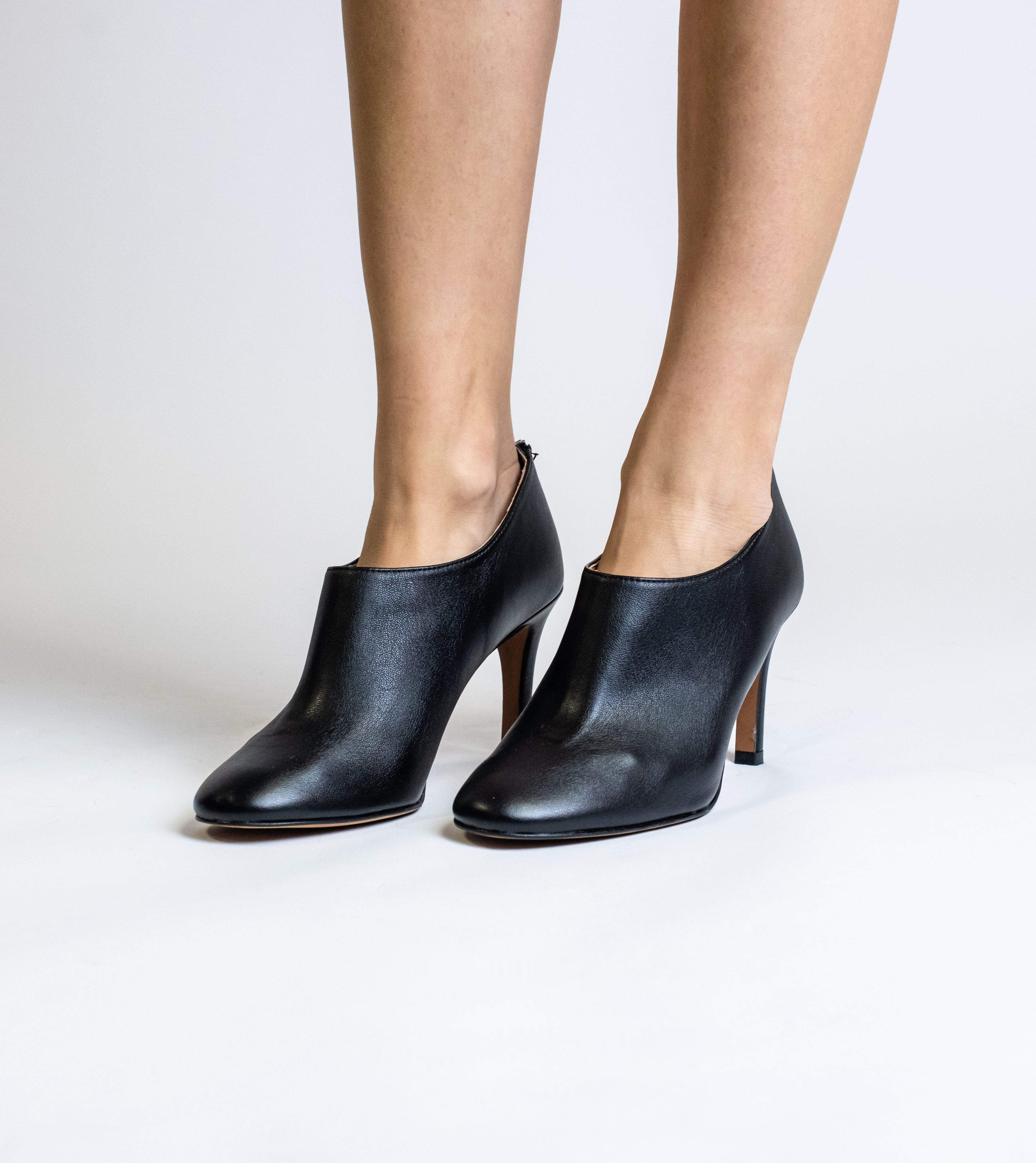 Allkind Olivia Vegan Leather Heeled Boots   Black