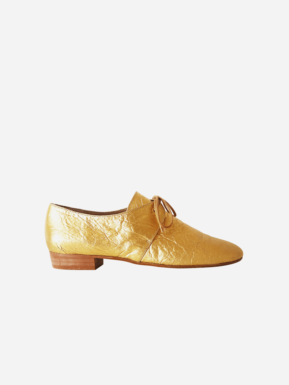 Tapir Vegan Piñatex Leather Flats | Gold