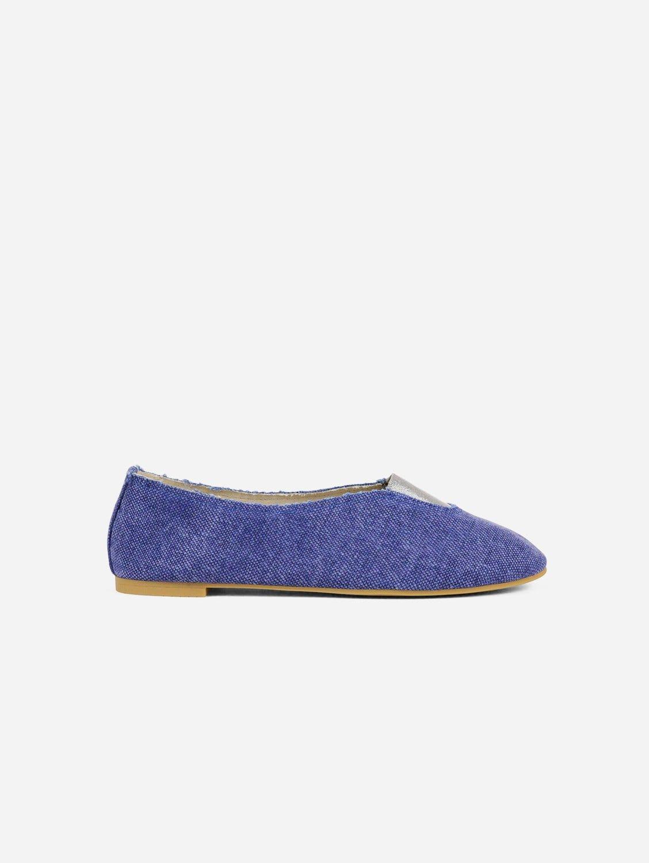 Rhythmic Vegan Ballet Flats | Blue Stone Washed Canvas