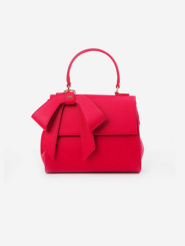 Cottontail Vegan Leather Handbag   Raspberry