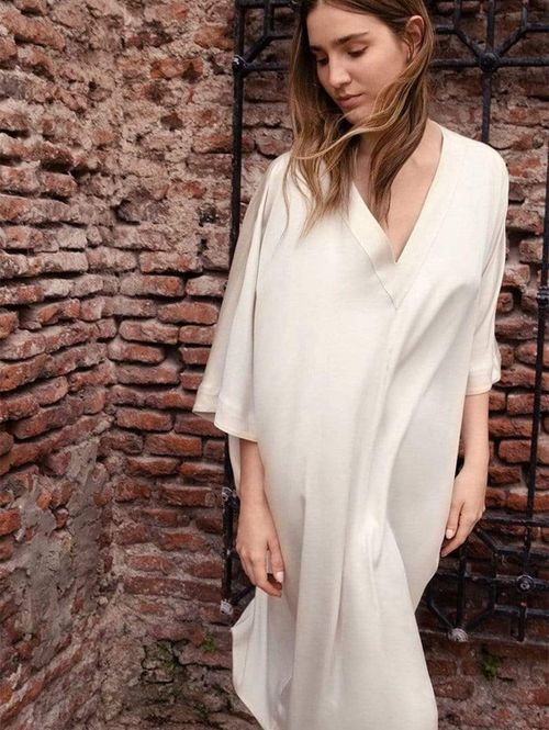 Sandra TENCEL™ Vegan Silk V-Neck Dress | Multiple Colours