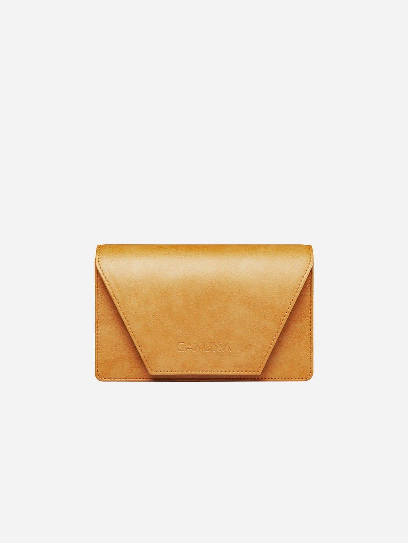 Hybrid Versatile Vegan Leather Crossbody Bag | Camel