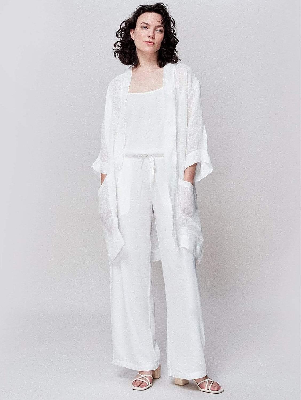 Organic Gauze Linen Wrap Jacket | Multiple Colours