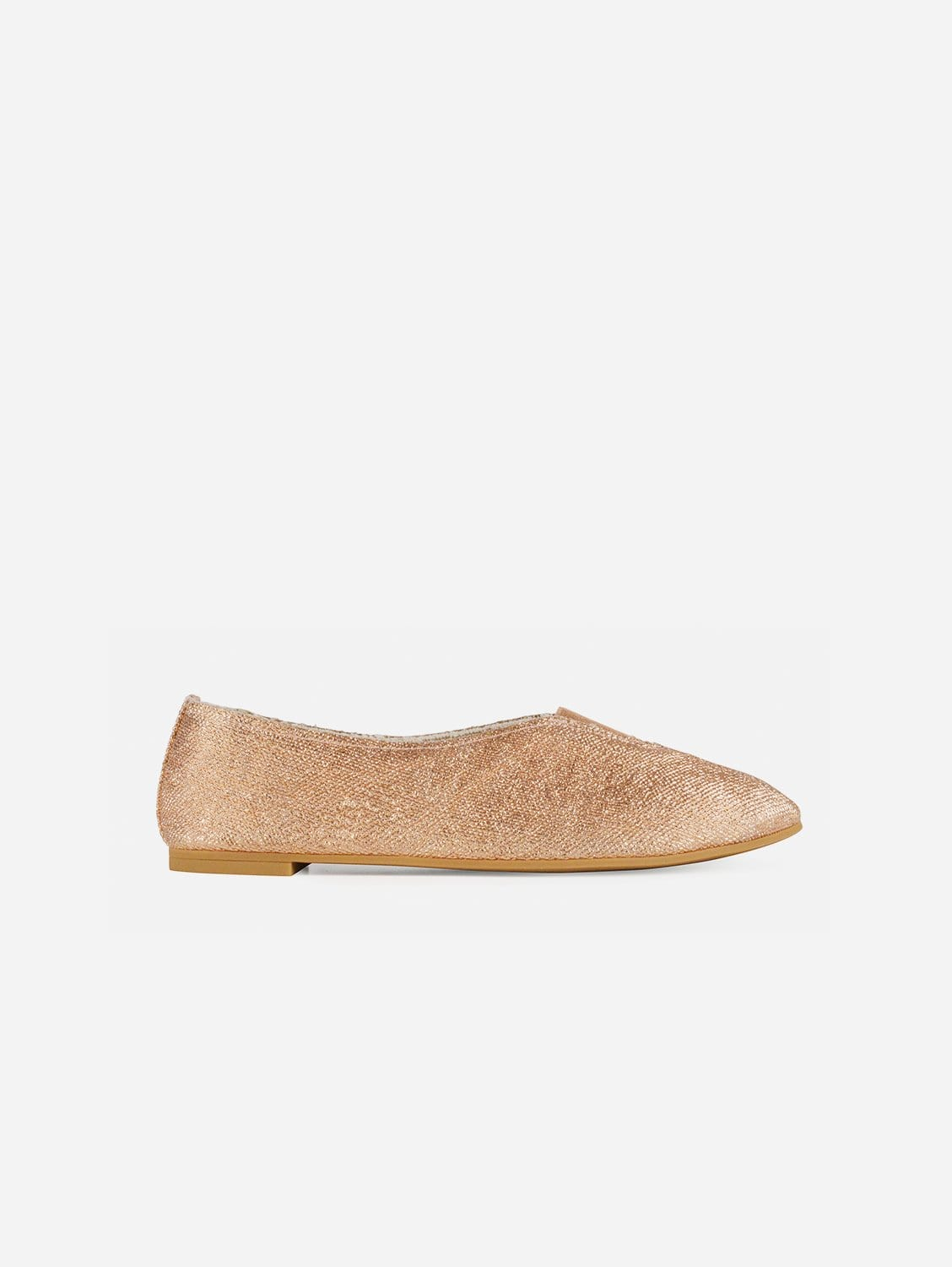 Rhythmic Vegan Ballet Flats | Copper Linen Canvas