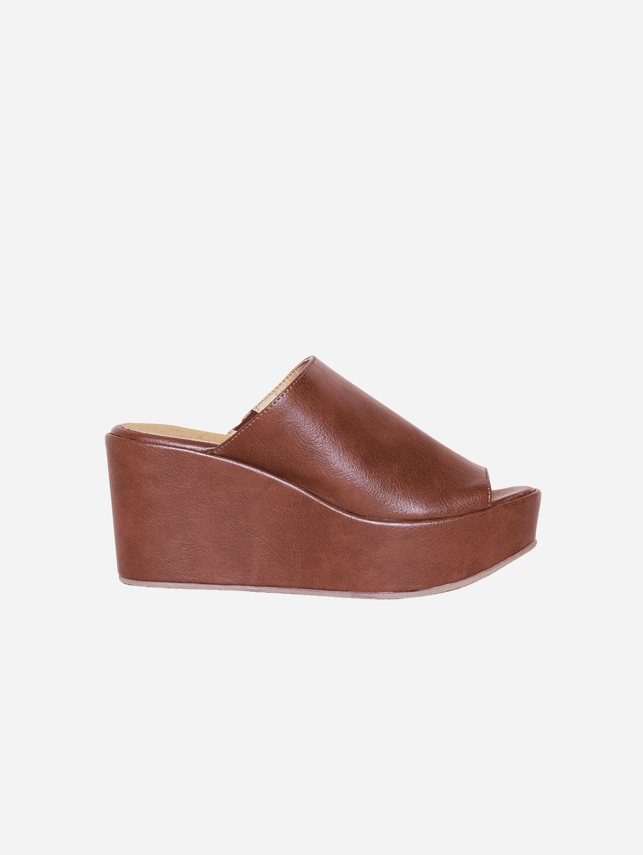 Cory Vegan Leather Platform Shoes | Brown