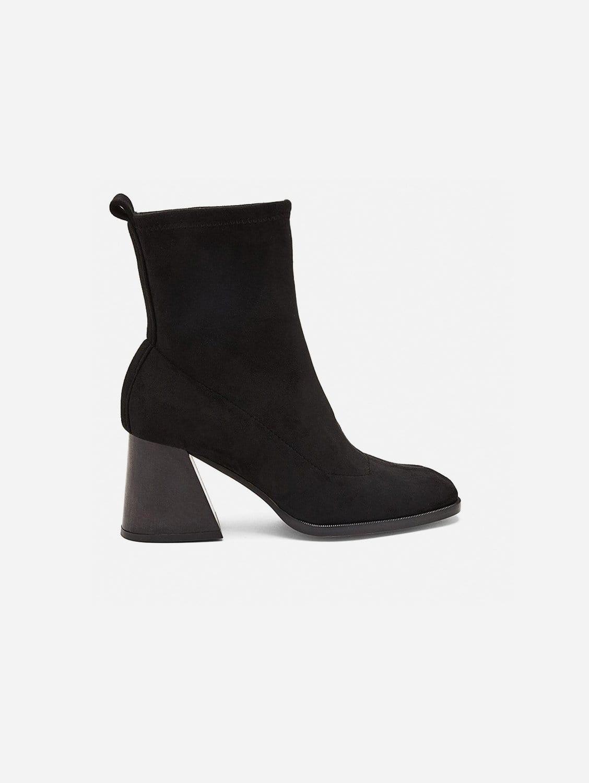 Gabriela Vegan Suede Sock Ankle Boot   Black