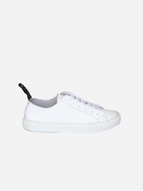 Samo Vegan Leather Trainer   White
