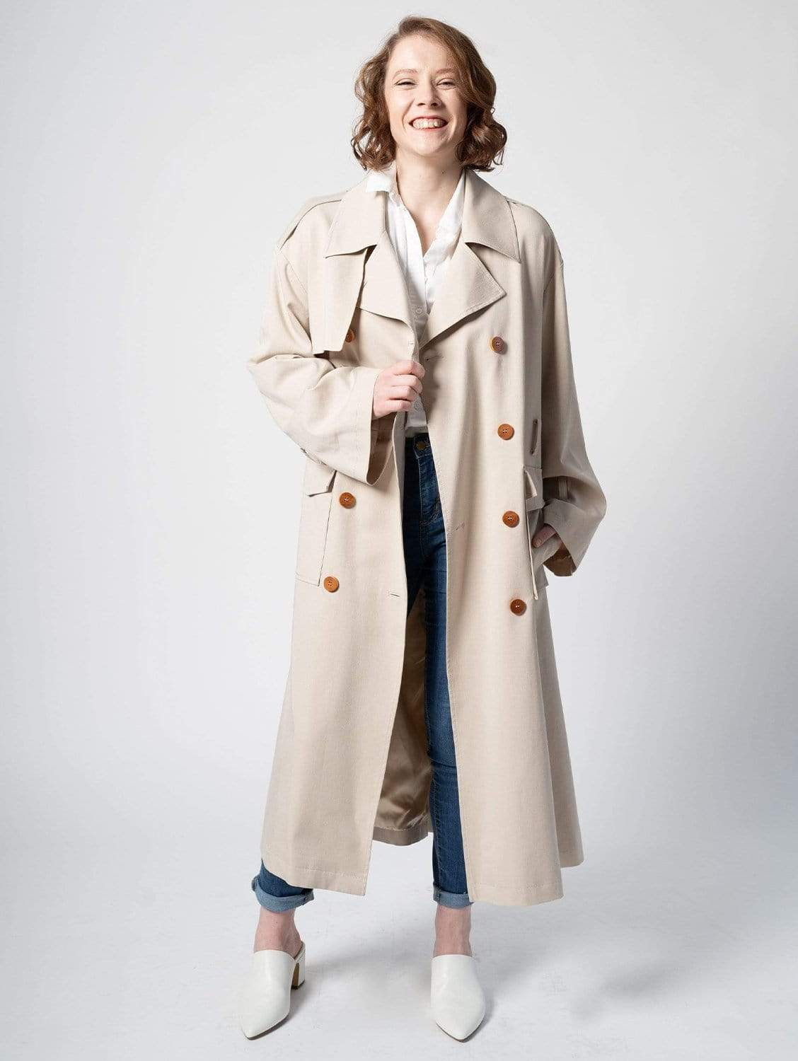 The Slouchy TENCEL™ blend Trench | Beige