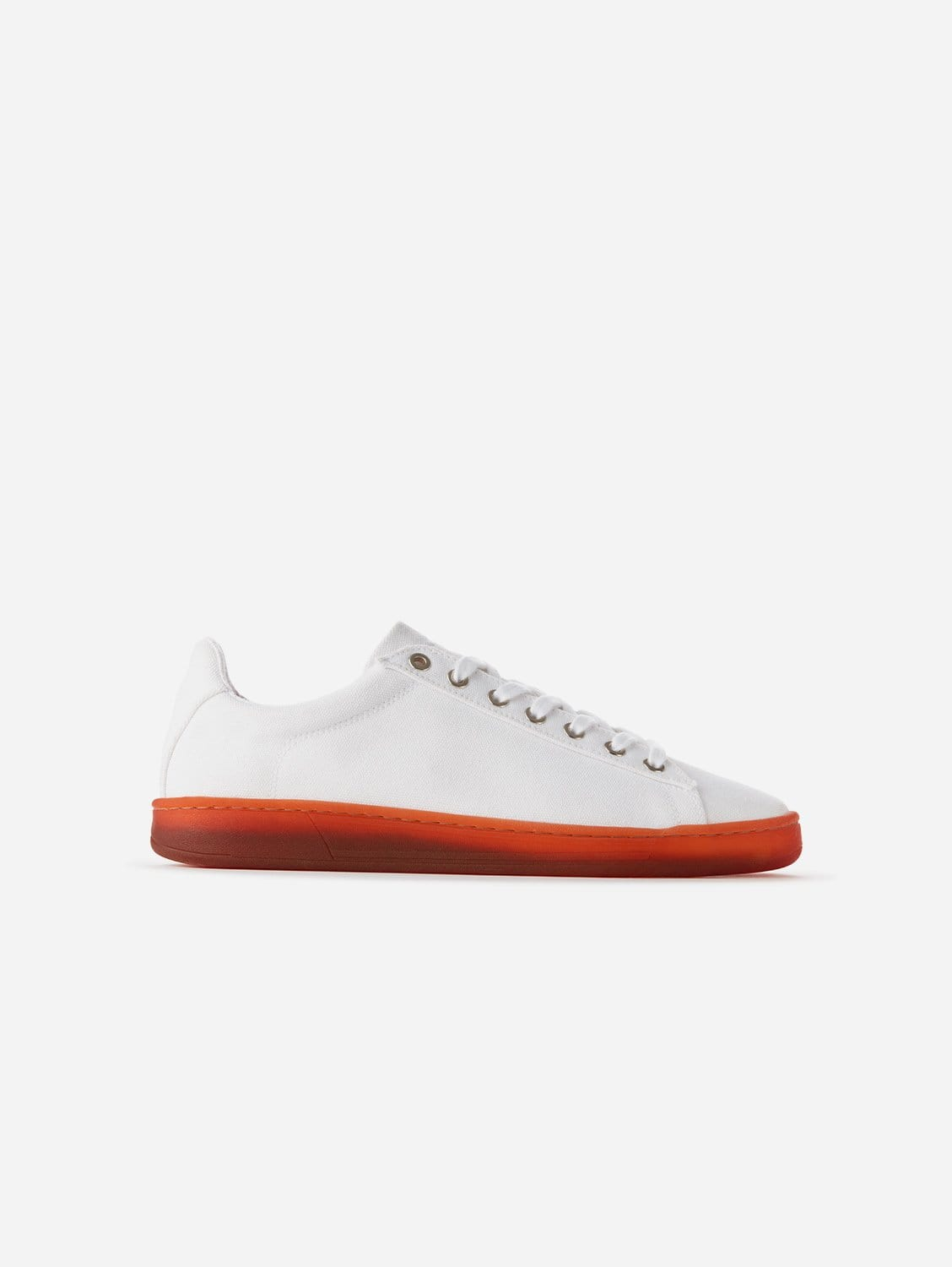 Hope Plastic-Free Organic Canvas Trainer   White Red