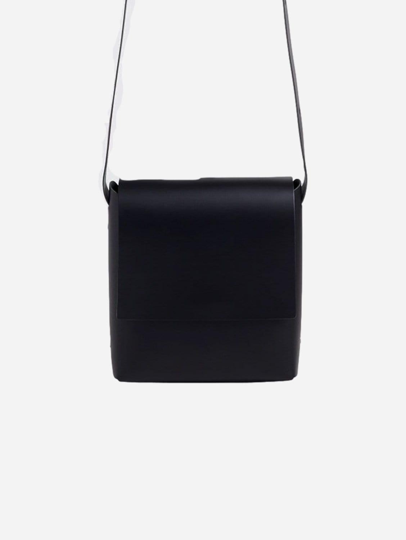 Origami Recycled Vegan Leather Crossbody Bag | Black
