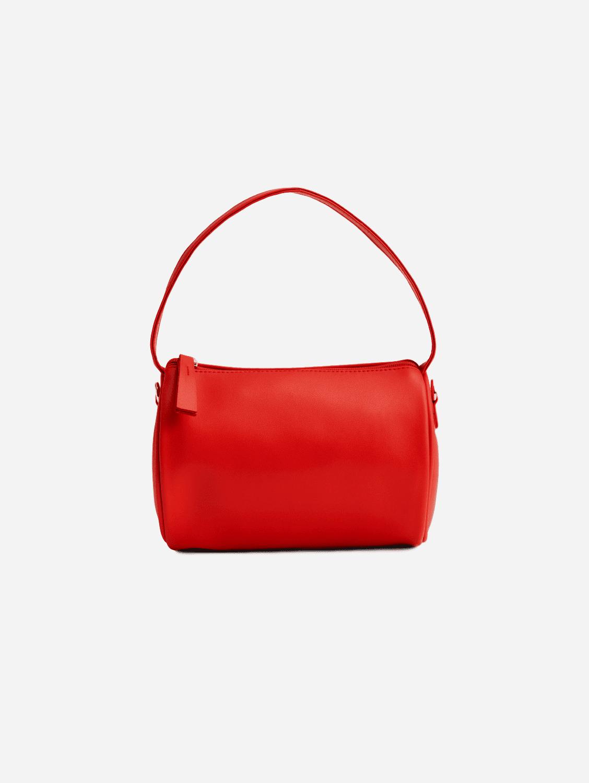 Vegan Leather Mini Duffel Bag | Rouge
