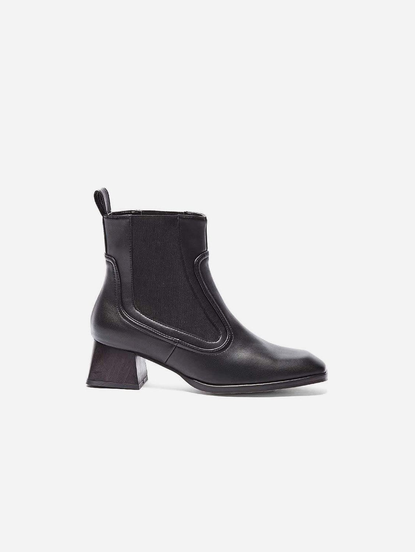 Lorena Vegan Leather Ankle Boot   Brown