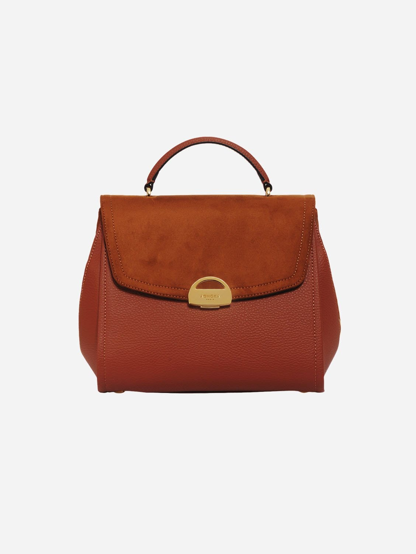 Paname Oxymore AppleSkin Vegan Leather & Microsuede Handbag | Camel