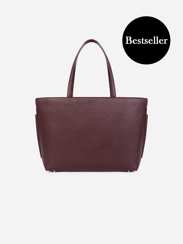 Maya AppleSkin™ Vegan Leather Tote Bag   Burgundy