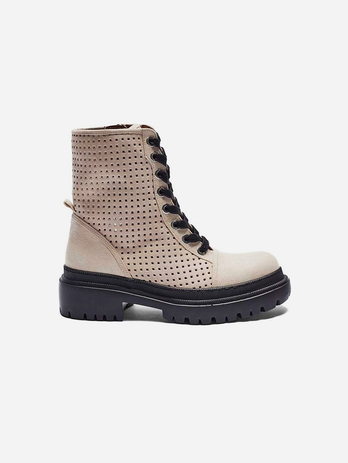 Juno Recycled Polyester Vegan Suede Summer Boot   Taupe