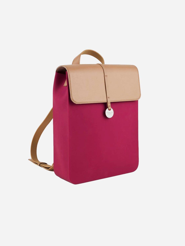 Cosmopolitan Silicone Vegan Backpack | Berry
