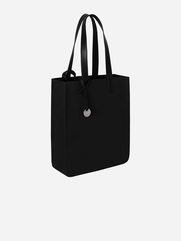 City Silicone Vegan Tote Bag | All Black