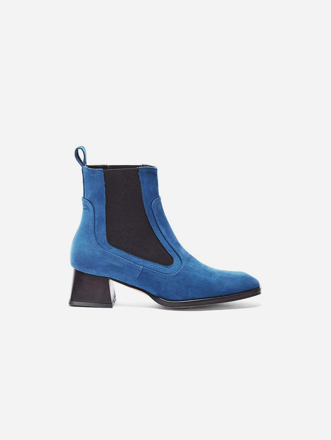 Lorena Recycled Polyester Vegan Suede Ankle Boot   Blue