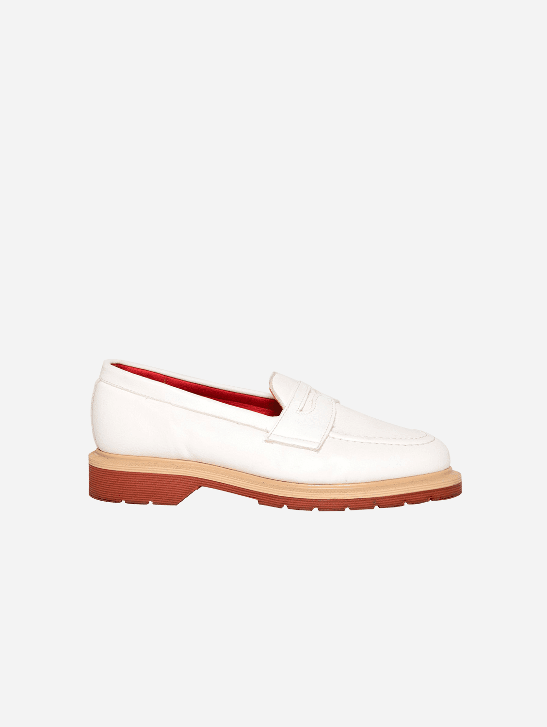 Jane Unisex Vegan Leather Loafer | White
